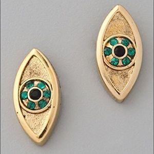 House of Harlow 1960 Gold Evil Eye Stud Earring